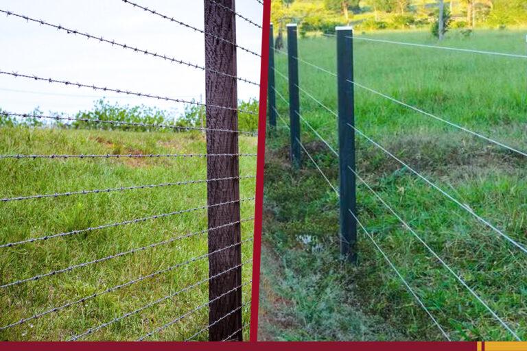 Arame farpado ou liso? Qual é a melhor opção para sua cerca?